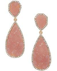 BaubleBar - Moonlight Druzy Earrings - Lyst