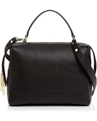 MILLY | Astor Large Leather Satchel | Lyst