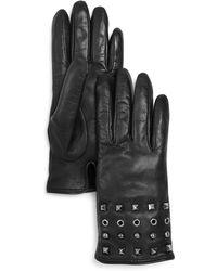 Bloomingdale's - Grommet & Stud Leather Gloves - Lyst