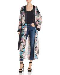 Guess - Maribel Floral Print Kimono - Lyst