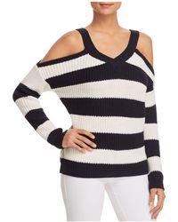 Vero Moda - Sibbo Striped Cold-shoulder Sweater - Lyst
