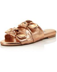 Charles David - Women's Souffle Leather Slide Sandals - Lyst