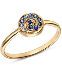 Shebee - 14k Yellow Gold Ombré Sapphire Spiral Ring - Lyst
