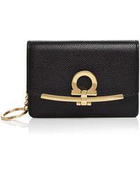 Ferragamo - Gancio Leather Clip Card Case - Lyst