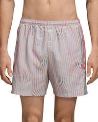 adidas Originals - Warped Stripes Swim Trunks - Lyst