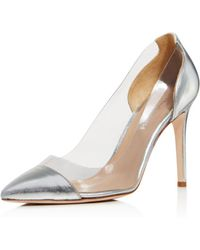 Charles David - Women's Genuine Leather Illusion Pointed Toe Court Shoes - Lyst