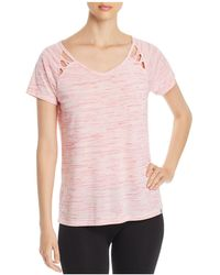 Marc New York - Performance Space-dyed Cutout Tee - Lyst