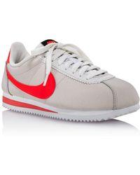 big sale cefc6 b3a0f Nike - Wmns Classic Cortez Leather Platinum Tint  Bright  Crimson-black-white -