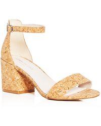 5e854542a8b Kenneth Cole - Women s Hannon Glitter Cork Ankle Strap Block Heel Sandals -  Lyst