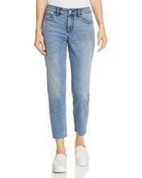 NYDJ - Jenna Raw-hem Ankle Jeans In Ponte Dune - Lyst