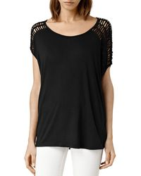 AllSaints - Simmo Draped Strappy Tee - Lyst