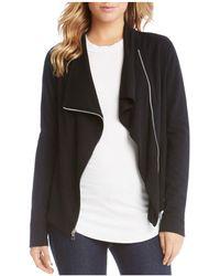 Karen Kane - Knit Moto Jacket - Lyst