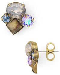 Sorrelli - Ivy Cluster Stud Earrings - Lyst