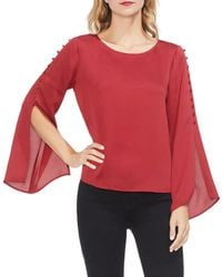 Vince Camuto - Button-sleeve Blouse - Lyst
