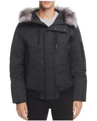 Andrew Marc - Alpine Hooded Bomber Jacket - Lyst