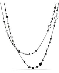 David Yurman - Dy Elements Chain Necklace With Black Onyx & Hematine - Lyst