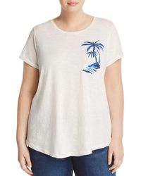 Lucky Brand - Embroidered Palm Tree Tee - Lyst