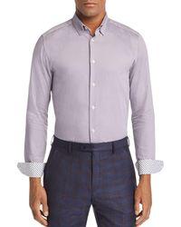 424934b562ecd Ted Baker - Bloosem Semi-plain Regular Fit Button-down Shirt - Lyst