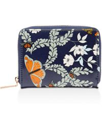 Ted Baker - Peeta Kyoto Gardens Zip Mini Wallet - Lyst
