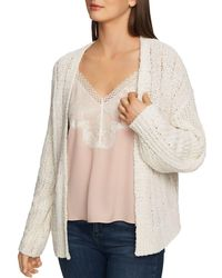 1.STATE - Pointelle Open-front Cardigan - Lyst