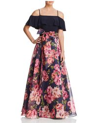 Eliza J - Cold-shoulder Floral Gown - Lyst