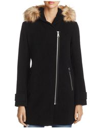 Marc New York - Paloma Faux Fur Trim Coat - Lyst