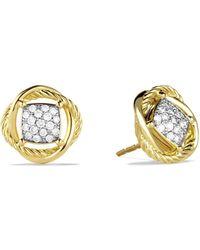 David Yurman | Infinity Earrings With Diamonds | Lyst