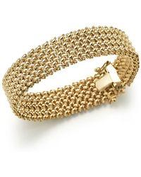 Bloomingdale's - 14k Yellow Gold 4-row Link Bracelet - Lyst