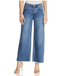 MICHAEL Michael Kors - Wide-leg Cropped Jeans In Antique Wash - Lyst