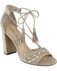 Ivanka Trump - Karita Lace Up High-heel Sandals - Lyst