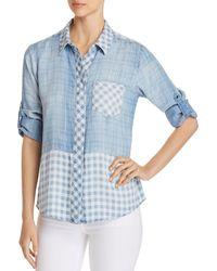 Billy T - Mixed-print Chambray Shirt - Lyst