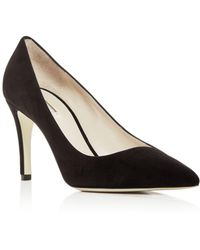 Giorgio Armani - Women's Suede Pointed Toe Pumps - Lyst