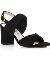 d9a92e9fc948 Bettye Muller - Angel Suede Twisted Sandals - Lyst