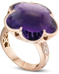 Pasquale Bruni - 18k Rose Gold Bon Ton Floral Amethyst & Diamond Ring - Lyst