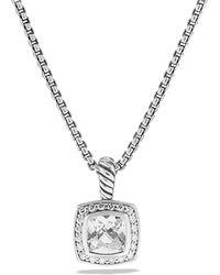 David Yurman - Petite Albion Pendant With White Topaz And Diamonds On Chain - Lyst