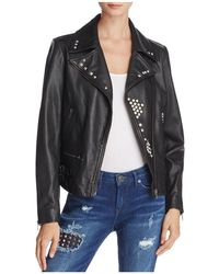 True Religion - Studded Leather Jacket - Lyst