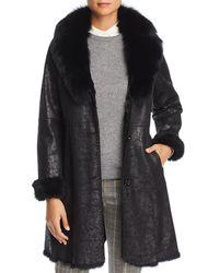 Maximilian - Rabbit Fur Coat With Fox Fur Collar - Lyst