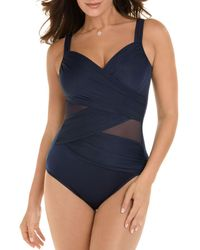 d3da381ce7b Miraclesuit Spectra Trilogy One Piece Swimsuit in Black - Save 4% - Lyst