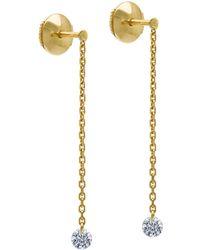 La Brune Et La Blonde - 18k Yellow Gold Majorette Diamond Drop Earrings - Lyst