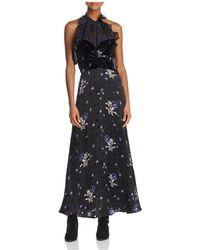 Rebecca Taylor   Violet Mixed Media Maxi Dress   Lyst