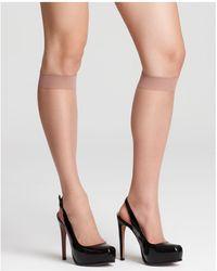 Donna Karan - Nude Knee Highs - Lyst