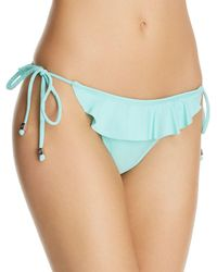d499265357 Lyst - Shoshanna Ruffle String Bikini Bottom in Blue