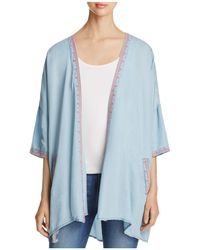 Billy T - Embroidered Kimono Jacket - Lyst