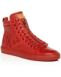 Bally - Men's Hekem Patchwork Deerskin Leather High-top Sneakers - Lyst