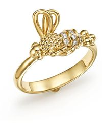 Temple St. Clair - 18k Yellow Gold Flying Bee Diamond Ring - Lyst