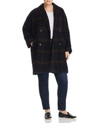 Eileen Fisher - Double-breasted Plaid Coat - Lyst