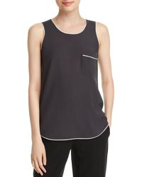 Eileen Fisher - Piped Silk Tank - Lyst