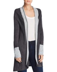 Donna Karan - New York Long-sleeve Open-front Cardigan - Lyst