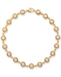 Bloomingdale's Diamond Milgrain Bezel Bracelet In 14k Yellow Gold - Multicolour