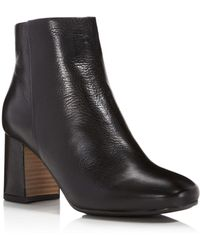 Gentle Souls - Troy Leather Block Heel Booties - Lyst